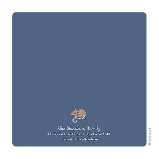 Baby Announcements Animal family blue - Page 4