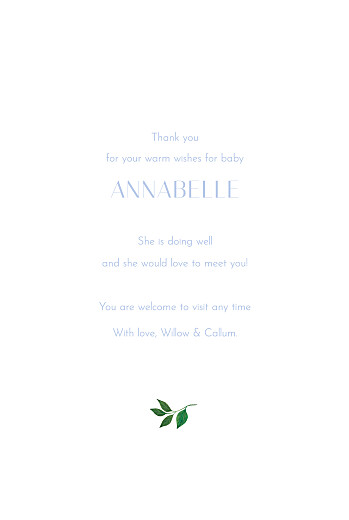 Baby Thank You Cards Love grows yellow blue - Page 3