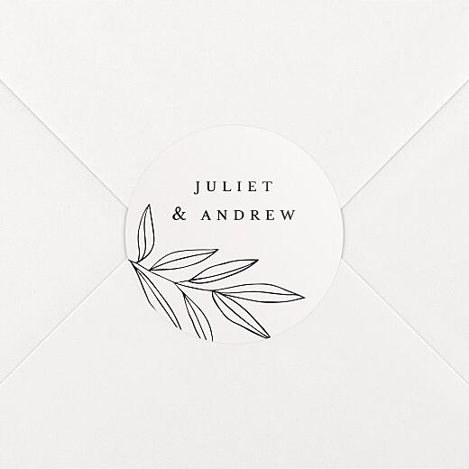 Wedding Envelope Stickers Budding branch beige - View 2