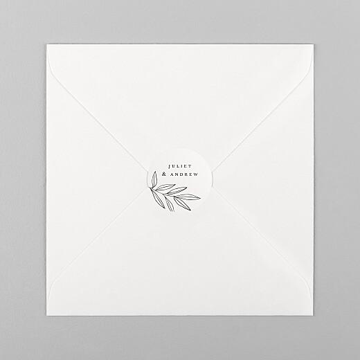 Wedding Envelope Stickers Budding branch beige - View 1