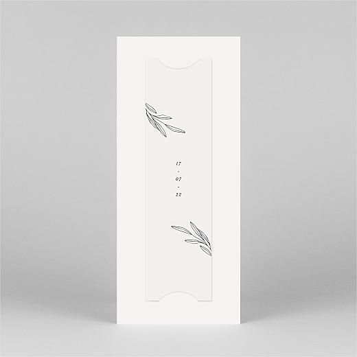 Save The Date Cards Budding branch (bookmark) beige - View 3