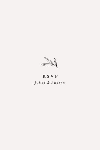 RSVP Cards Budding branch beige