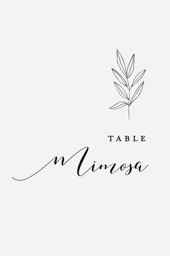 Wedding Table Numbers Budding branch green