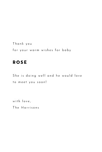 Baby Thank You Cards Inkwell (4 pages) white - Page 3