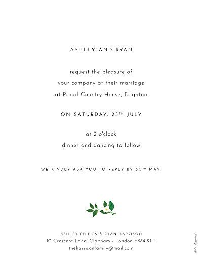 Wedding Invitations Love grows (portrait) white - Page 2