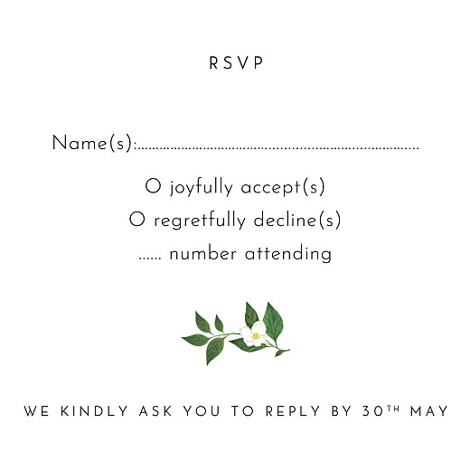 RSVP Cards Love grows (square) white - Page 2