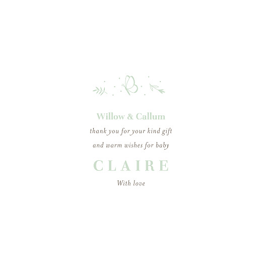 Baby Thank You Cards Elegant butterflies green - Page 3