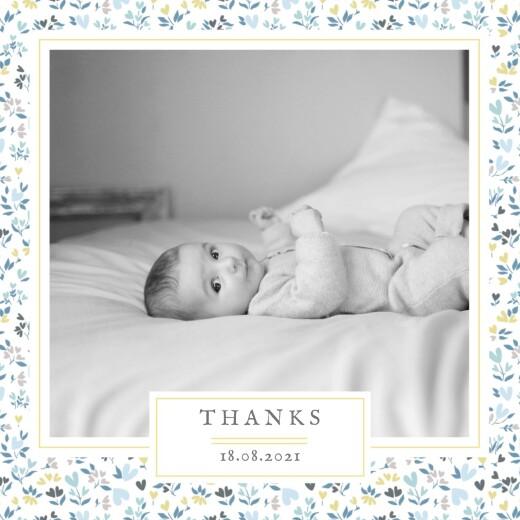 婴儿感谢卡自由心(4页)蓝