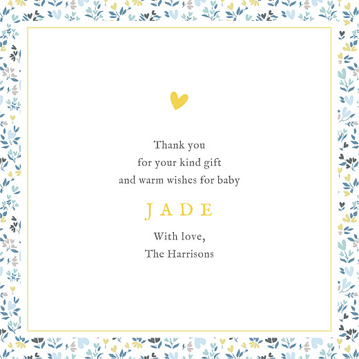 Baby Thank You Cards Liberty hearts (4 pages) blue - Page 3