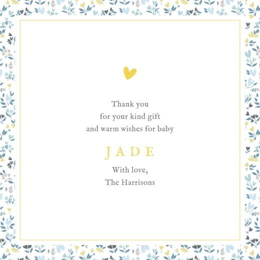 婴儿感谢卡自由心(4页)蓝色 - 第3页