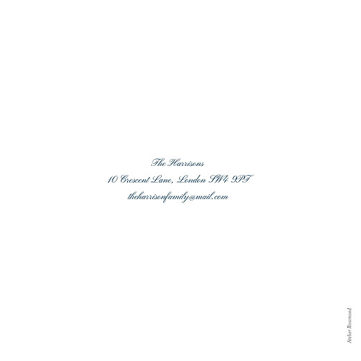 Wedding Thank You Cards Minimalist frame (foil) white - Page 4
