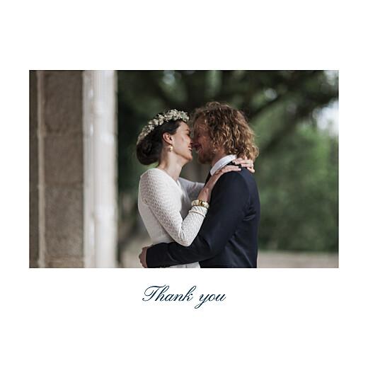 Wedding Thank You Cards Minimalist frame (foil) white