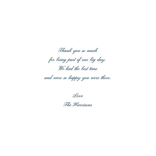 Wedding Thank You Cards Minimalist frame (foil) white - Page 3