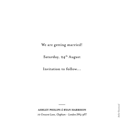 Save The Date Cards Ever after white - Page 2