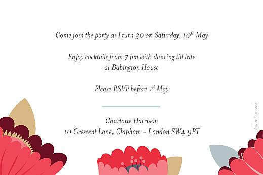 Birthday Invitations Bohemian blossoms blue - Page 2