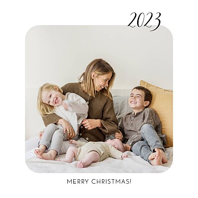 Christmas Cards Tender moments white finition