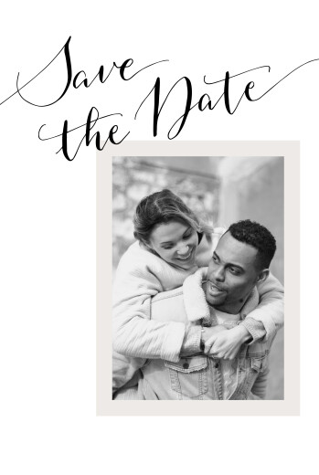 Save The Date Cards Happily ever after white