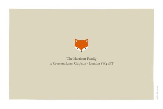 婴儿感谢卡的小狐狸米色 - 第4页