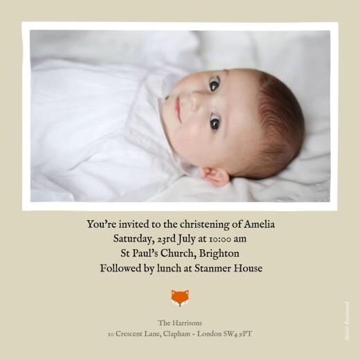 Christening Invitations Little fox beige - Page 2