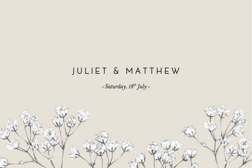 Save The Date Cards Gypsophila beige