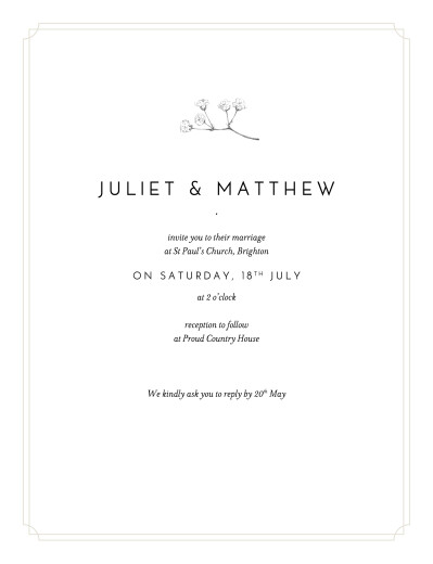 Wedding Invitations Gypsophila beige