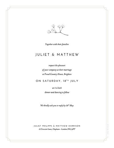 婚礼请柬满天星(纵向)米色 - 第2页