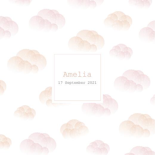 Baby Announcements Mist (foil) pink orange