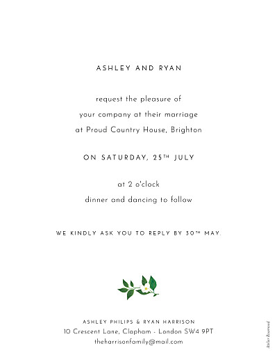 Wedding Invitations Love grows (portrait) white - Page 2