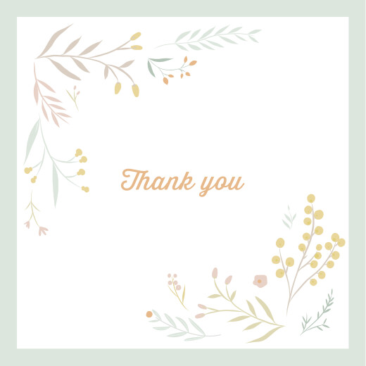 Baby Thank You Cards Summer breeze (4 pages) green