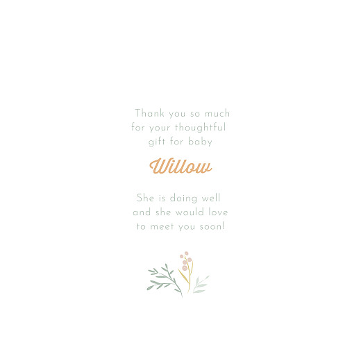 Baby Thank You Cards Summer breeze (4 pages) green - Page 3