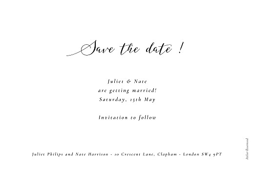 Save The Date Cards Bloomy white - Page 2