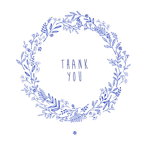 Baby Thank You Cards Pleasant pastures (4 pages) blue