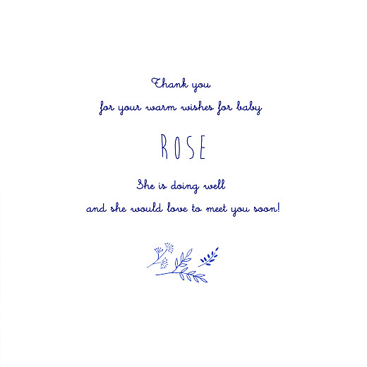 Baby Thank You Cards Pleasant pastures (4 pages) blue - Page 3