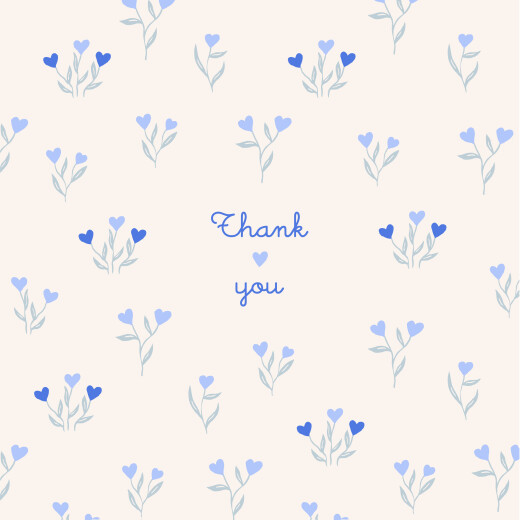 Baby Thank You Cards Love blossoms (4 pages) blue