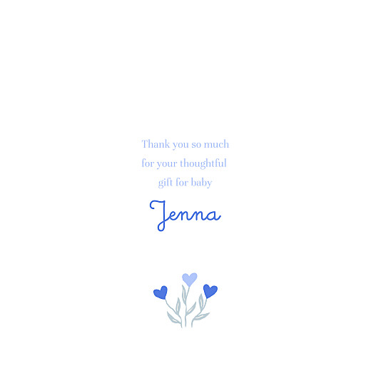 Baby Thank You Cards Love blossoms (4 pages) blue - Page 3