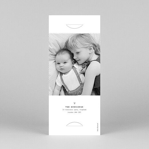 Baby Thank You Cards Me and my family (2 children) white - View 4