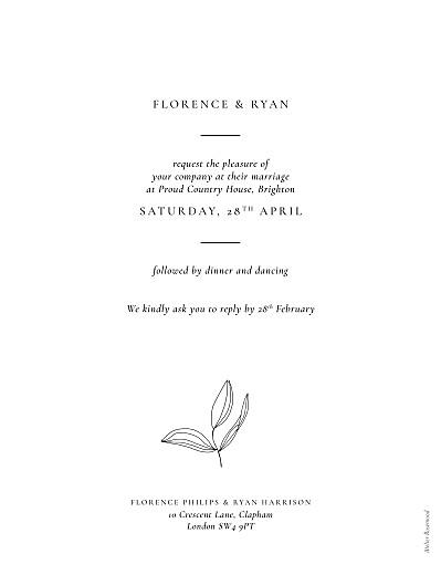 婚礼请柬爱情诗(纵向)白色 - 第2页