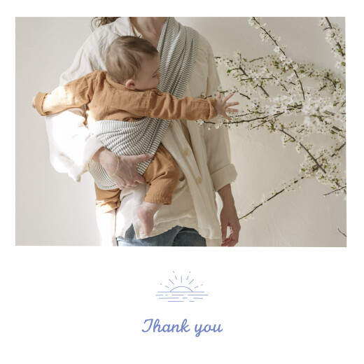 Baby Thank You Cards Surf's up (4 pages) blue