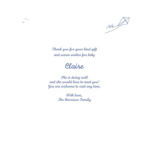 Baby Thank You Cards Surf's up (4 pages) blue - Page 3