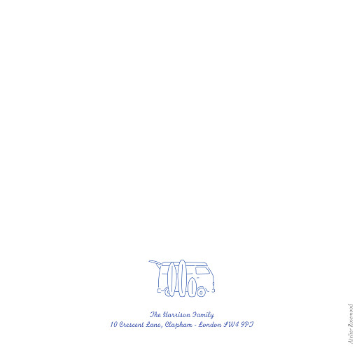 Baby Thank You Cards Surf's up (4 pages) blue - Page 4