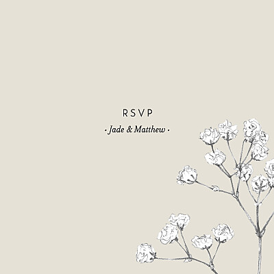 RSVP Cards Gypsophila beige finition