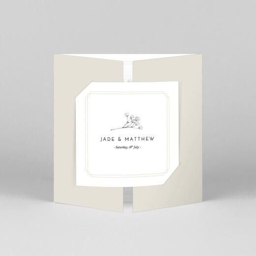 Wedding Invitations Gypsophila (gatefold) beige - View 1
