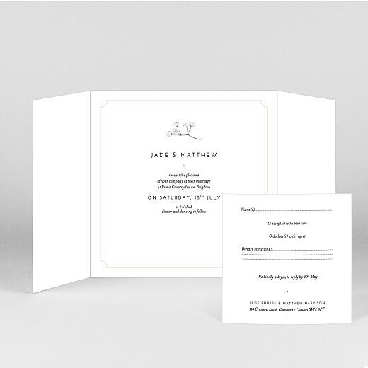 Wedding Invitations Gypsophila (gatefold) beige - View 2