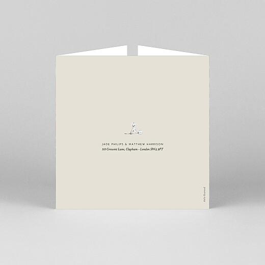 Wedding Invitations Gypsophila (gatefold) beige - View 3