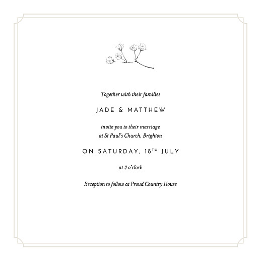 Wedding Invitations Gypsophila (4 pages) beige - Page 3