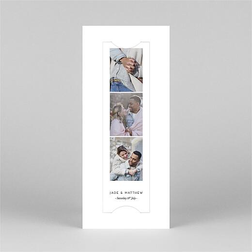 吉普赛人婚礼请柬(书签)白色视图2
