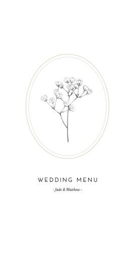 婚礼菜单乳白色