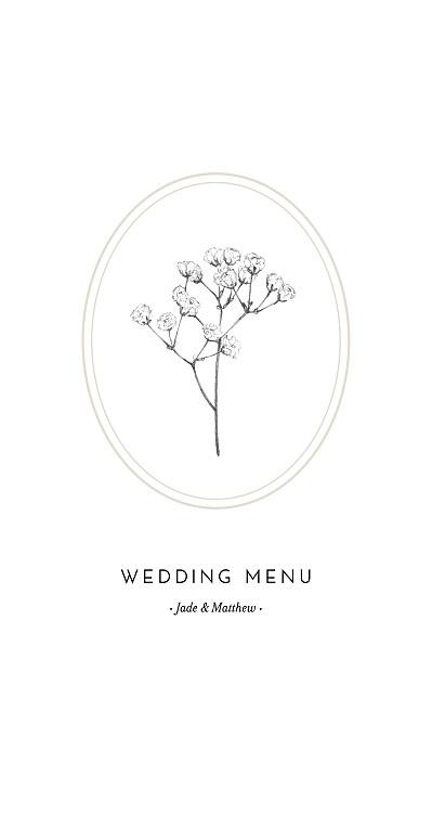 Wedding Menus Gypsophila beige finition