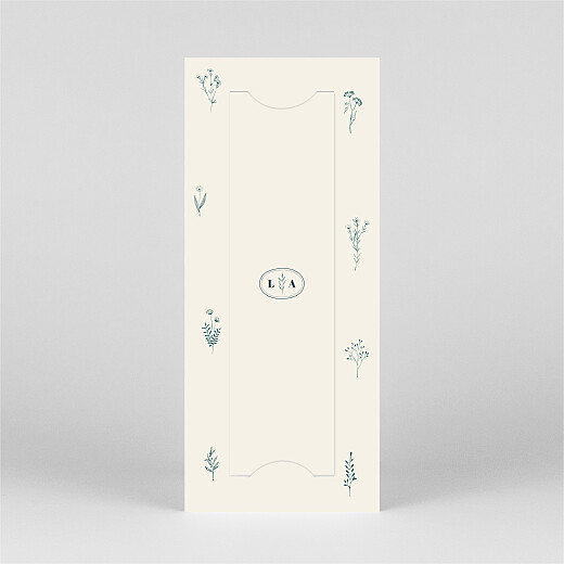 Save The Date Cards Floral minimalist (bookmark) beige - View 3