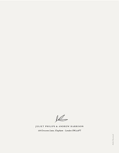 Wedding Invitations Budding branch (foil) portrait beige - Page 2